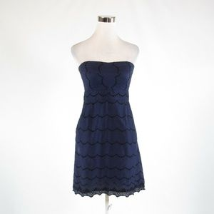 Dark blue J. CREW empire waist dress 4